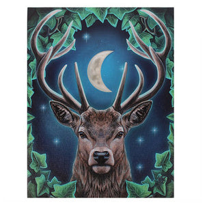 Stag and Moon Canvas Picture