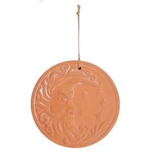 Circular Terracotta Moon Plaque