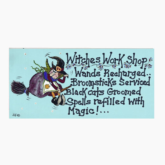 Witches Workshop PVC Hanging Sign