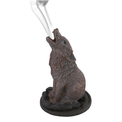 Howling Wolf Incense Cone Holder