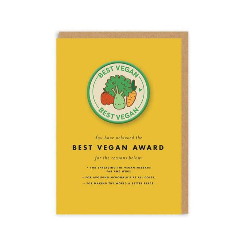 Best Vegan Woven Patch Greeting Card - Ohh Deer