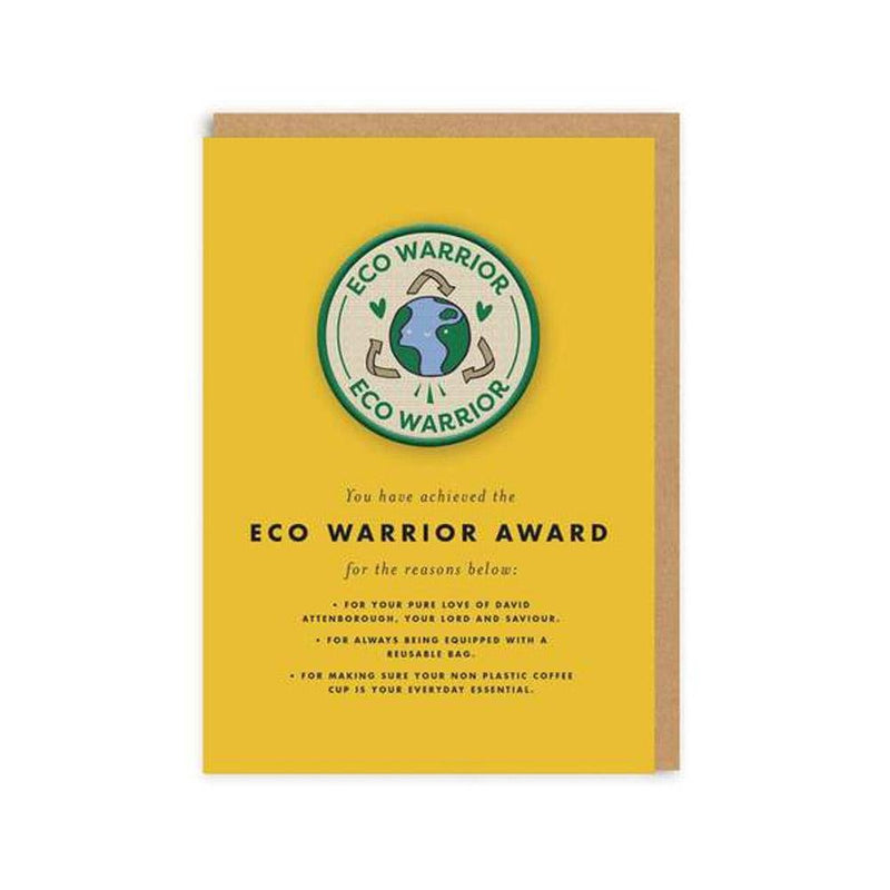 Eco Warrior Woven Patch Greeting Card - Ohh Deer