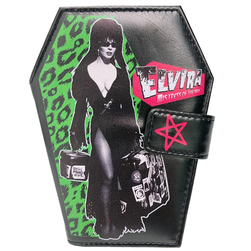 Elvira Leopard Print Coffin Wallet (Official) - Kreepsville 666