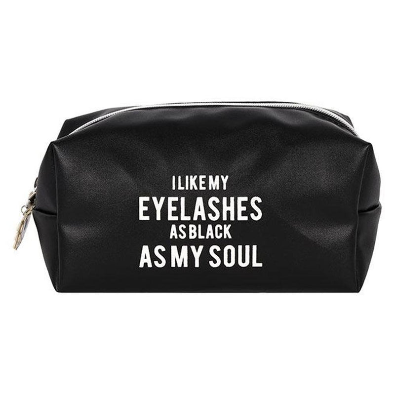 Eyelashes As Black As My Soul Cosmetics Bag - Gothic Gifts