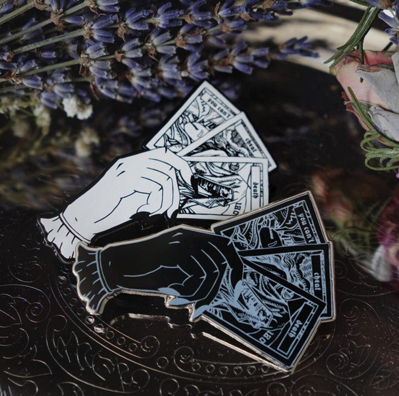 Final Destination Enamel Pin (Black) - Lively Ghosts