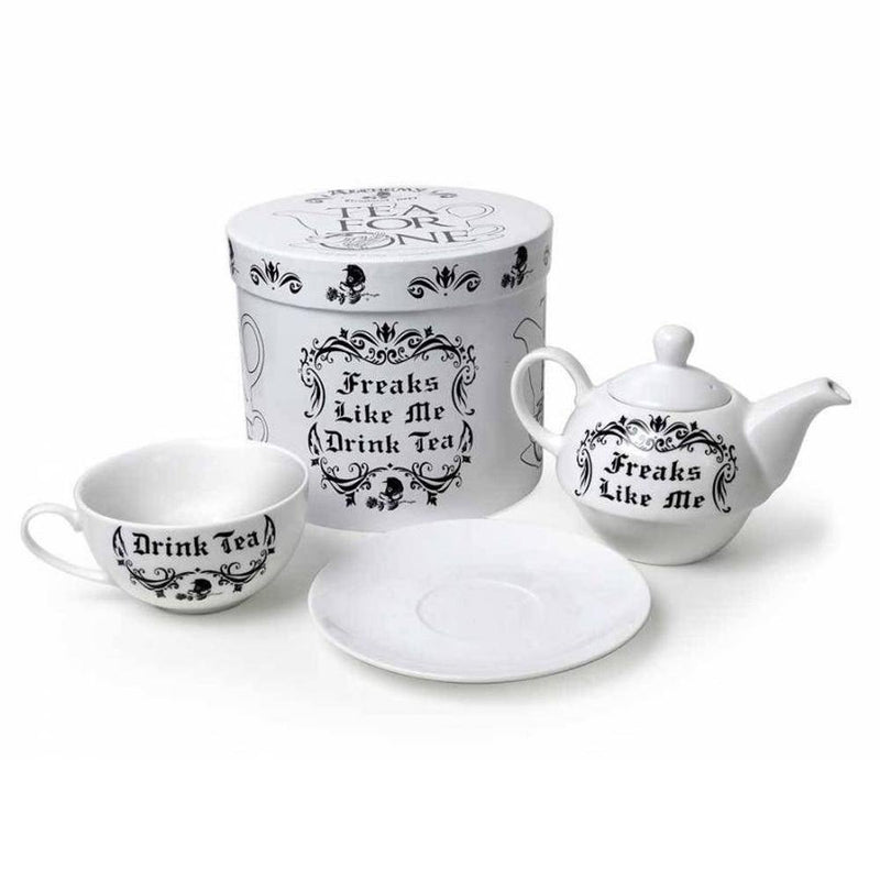 Freaks Like Me Drink Tea Teapot Set - Alchemy England