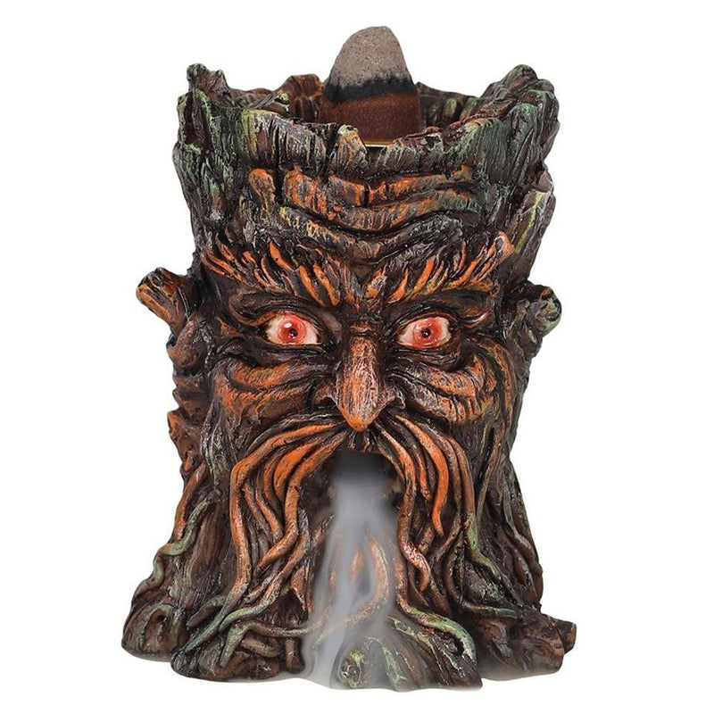 Green Man Backflow Incense Burner - Mystical Gifts