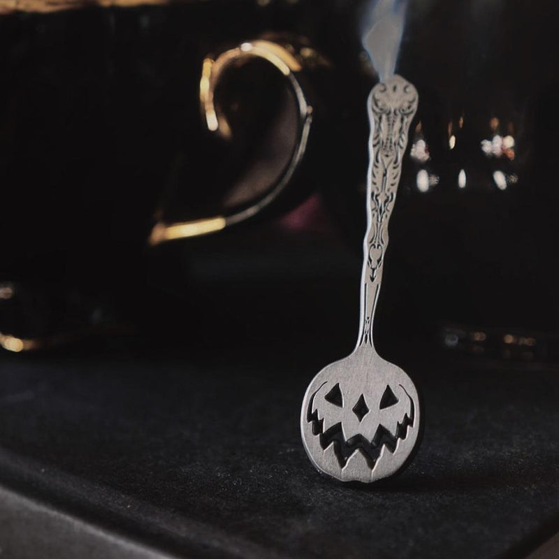 Haunted Hallows Tea Spoon Enamel Pin - Lively Ghosts