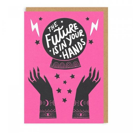 Hello!Lucky The Future Is In Your Hands Greeting Card - Ohh Deer