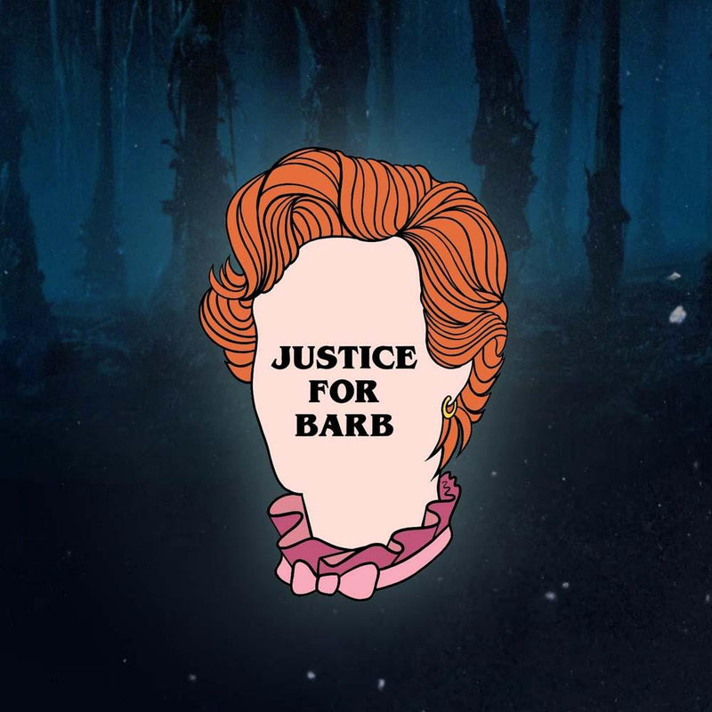 Justice for Barb Enamel Pin - Lively Ghosts
