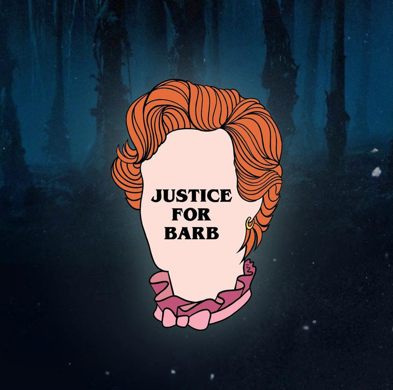 Justice For Barb Stranger Things Clear Sticker - Lively Ghosts