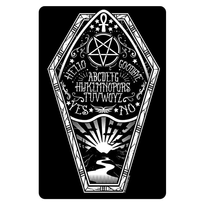 Mini Ouija Coffin 'Greet Tin Card' Sign - Grindstore
