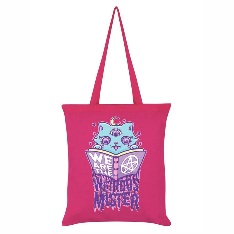 Pink We Are The Weirdos Mister Spells Tote Bag - Grindstore