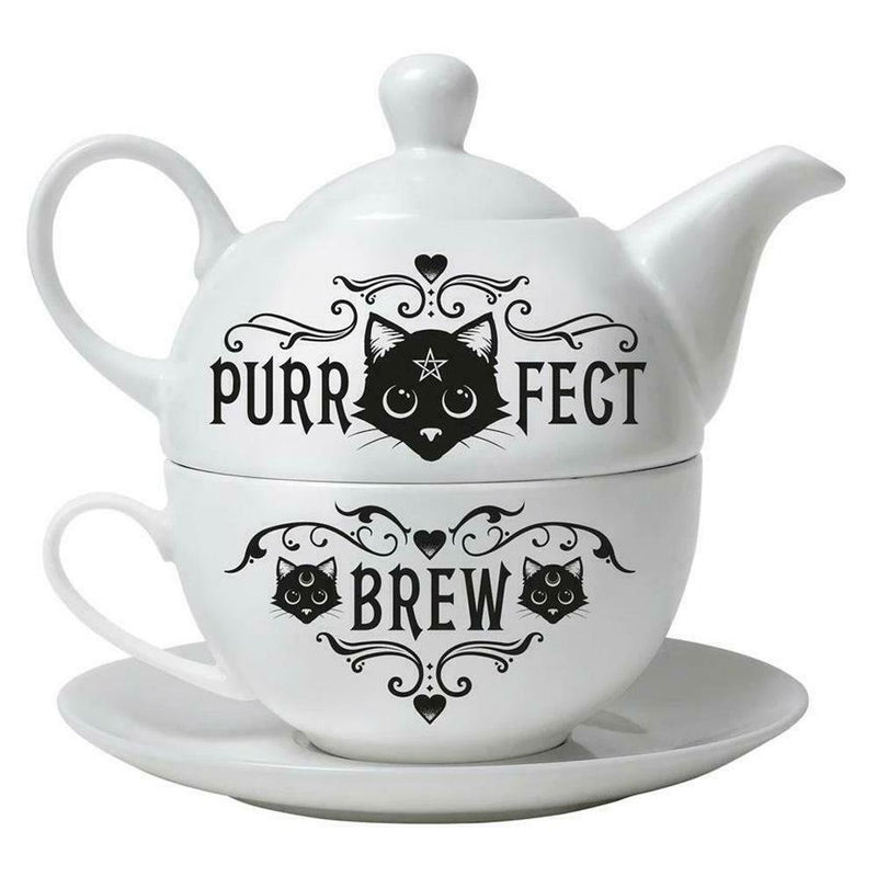 Purrfect Brew Teapot Set - Alchemy England