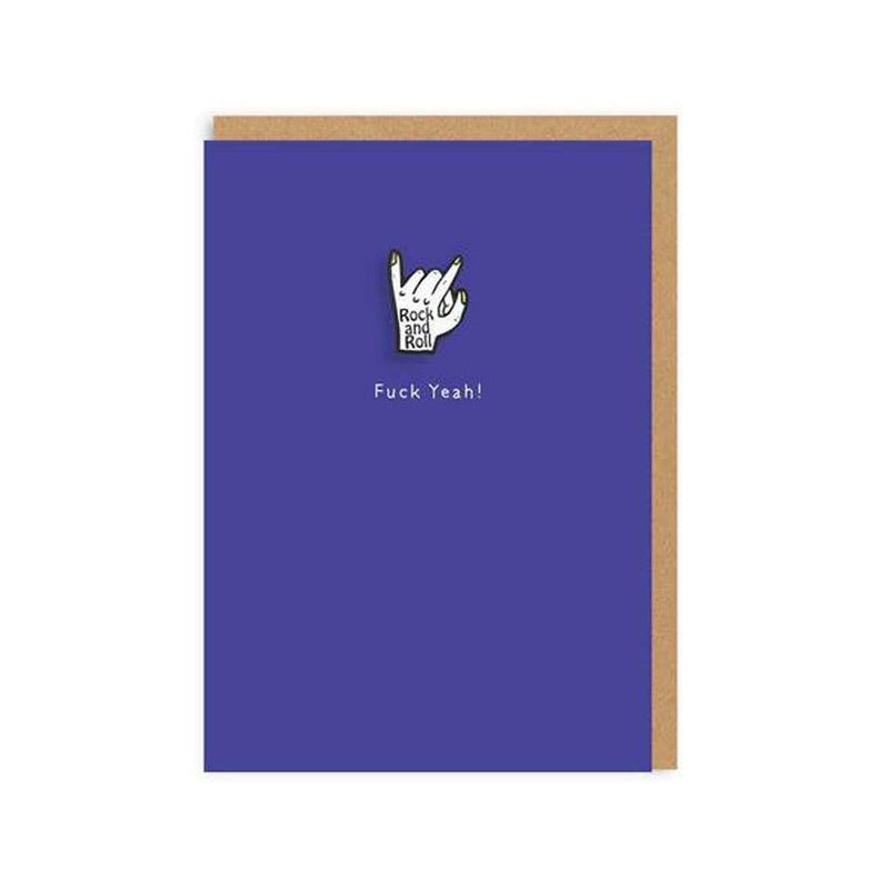 Rock and Roll Enamel Pin Greeting Card - Ohh Deer