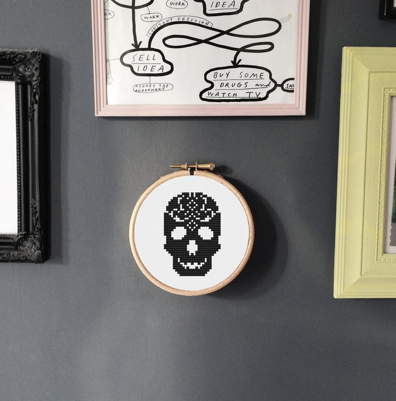 Skull Cross Stitch Kit - Innocent Bones
