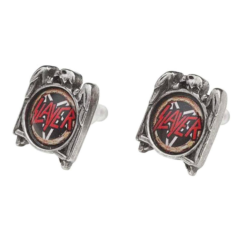 Slayer Eagle Pewter Stud Earrings (Official) - Alchemy