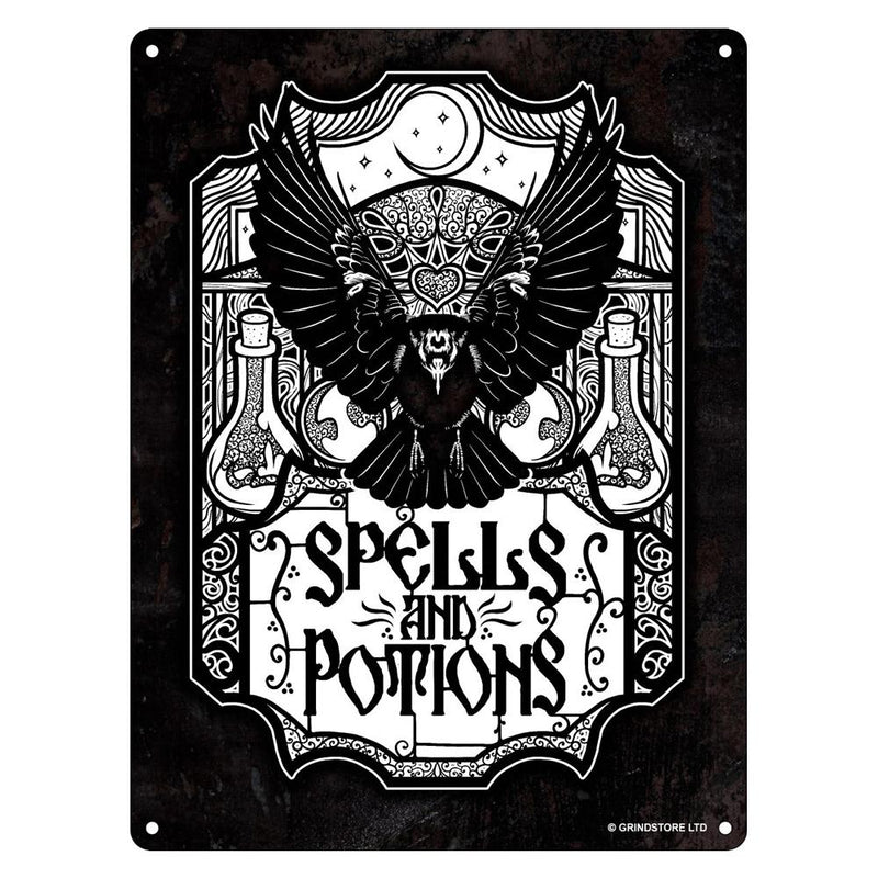Small Spells and Potions Tin Sign - Grindstore