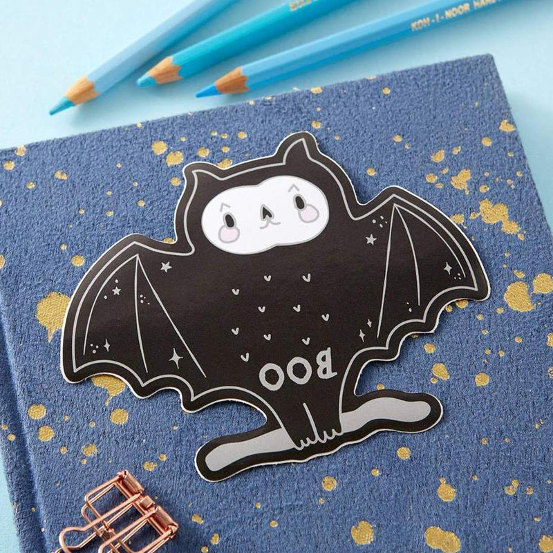 Spooky Boo Bat Large Sticker - Punky Pins
