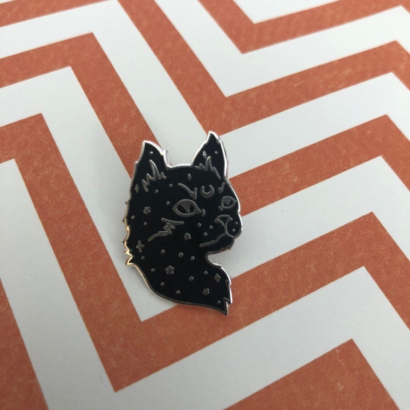 Starry Cat Enamel Pin - Punky Pins