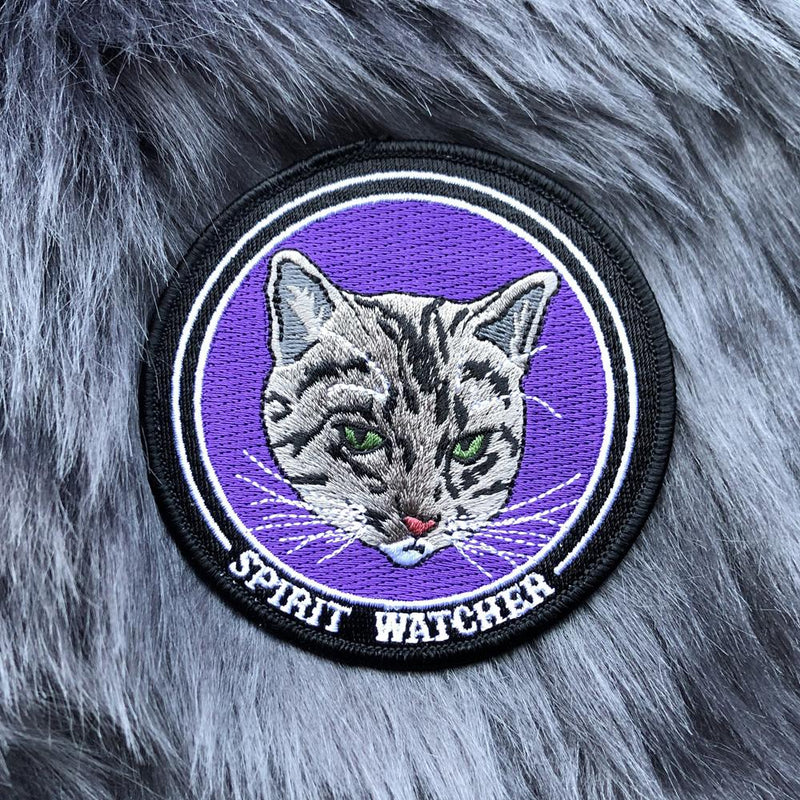 Tabby Cat Spirit Watcher Iron On Patch - The Pretty Cult