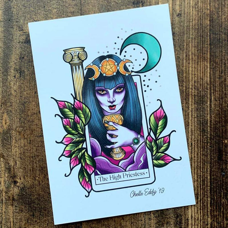 The High Priestess Tarot A5 Print by Michelle Eddy - Michelle Eddy