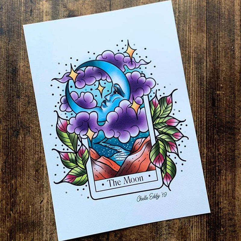 The Moon Tarot A4 Print by Michelle Eddy - Michelle Eddy