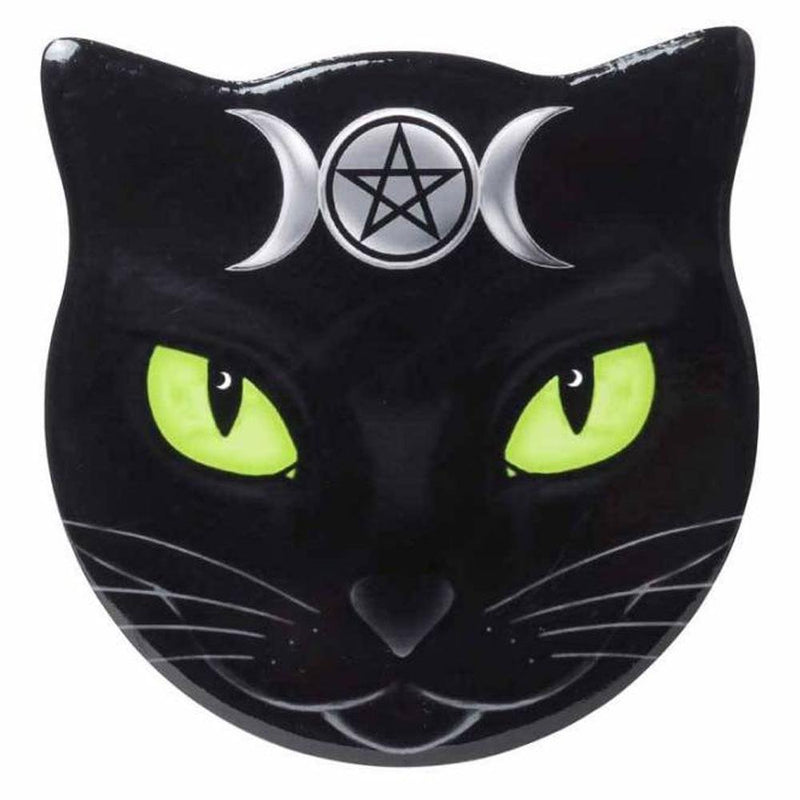 Triple Moon Cat Shaped Ceramic Coaster - Alchemy