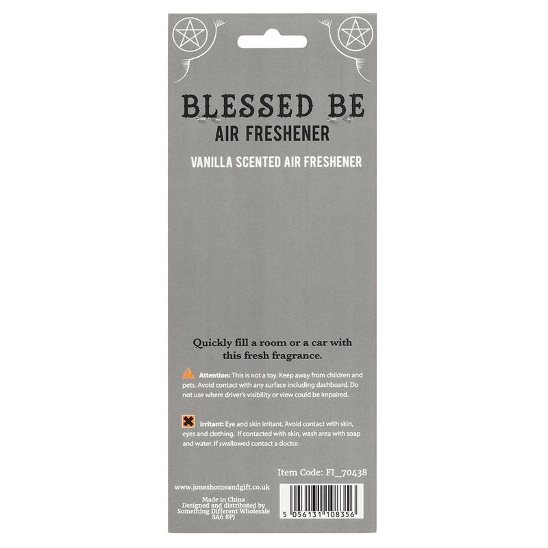 Vanilla Scented Blessed Be Air Freshener - Gothic Gifts