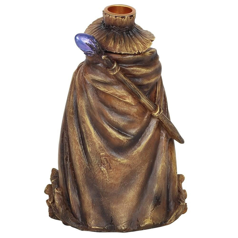 Wizard Backflow Incense Burner with Light - Gothic Gifts