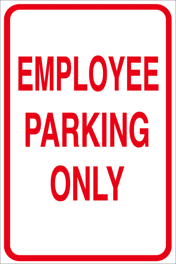 EMPLOYEE PARKING SIGN METAL