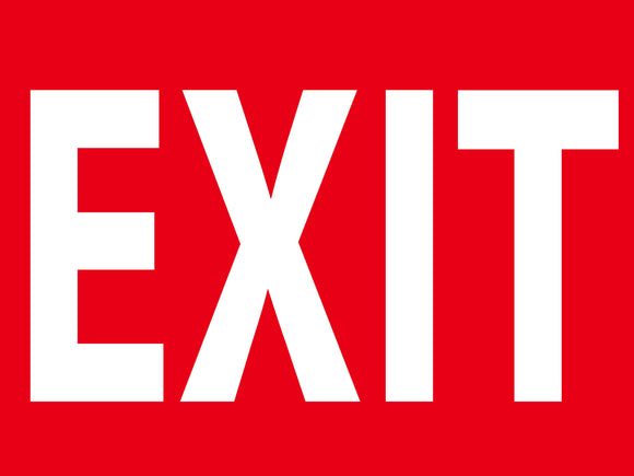 EXIT CONSTRUCTION SIGN 18 X 24
