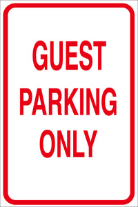 GUEST PARKING ONLY METAL