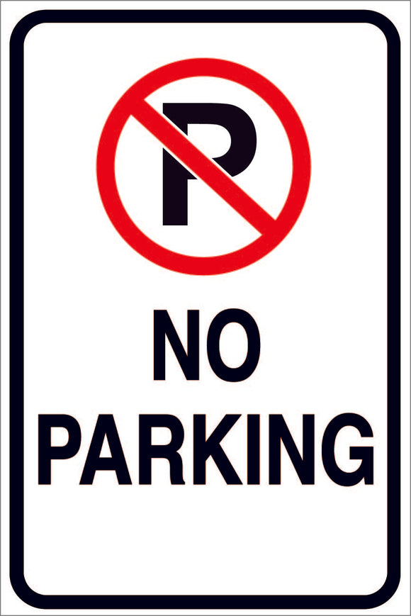 NO PARKING SYMBOL METAL