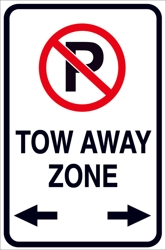 TOW AWAY ZONE METAL