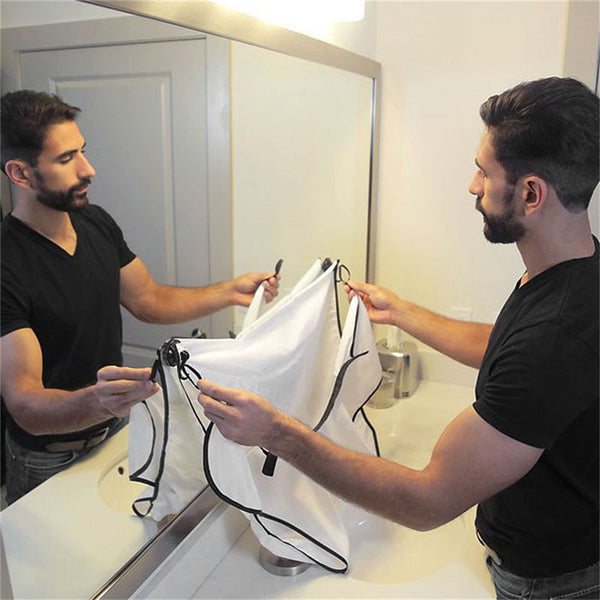 Shaving Bathroom Apron - Save Time, No Clean Up
