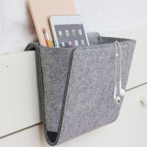 Bedside Organizer - Fits Any Tablet, Book, TV Remote and More