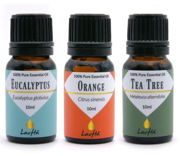 Essential Oil 3-pack - Eucalyptus, Orange and Tea Tree - LavHā