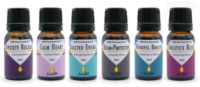 Essential Oil 6-pack - Anxiety Release, Calm Heart, Exalted Energy, Helm of Protection, Mindful Breath, Solstice Bliss - LavHā