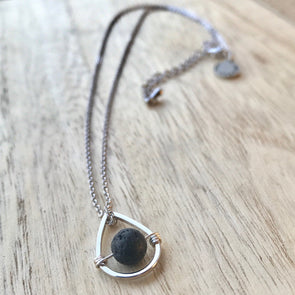 Silver Lava Drop Necklace - LavHā