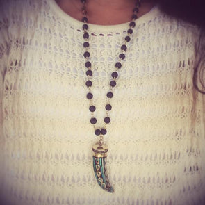 Turquoise & Tiger's Eye Lava Chain Necklace - LavHā