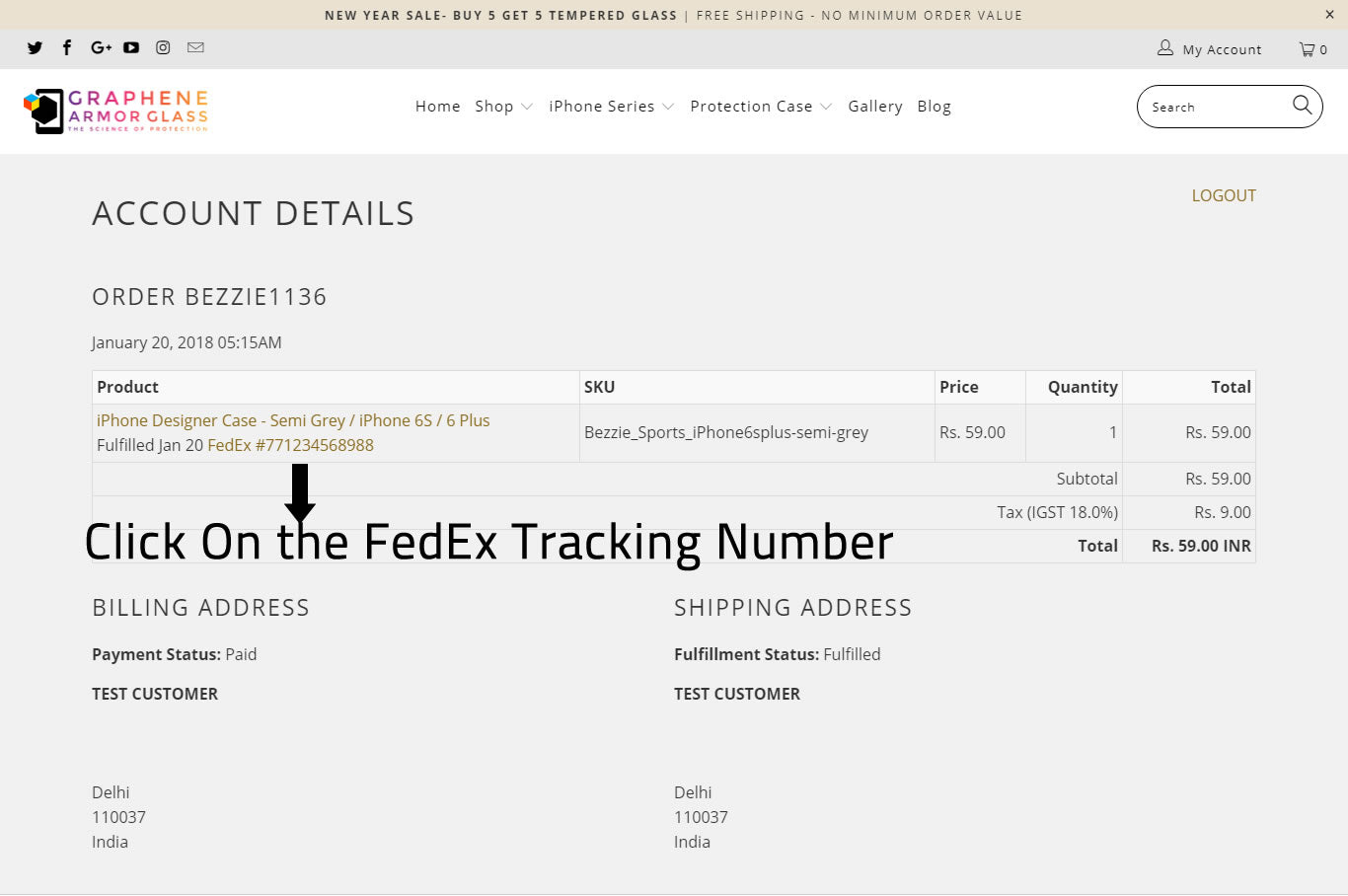 How to track my order online