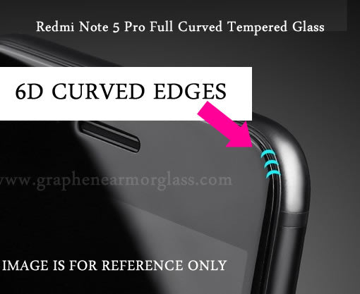 FULL CURVED 6D Tempered Glass for Redmi Note 5 Pro