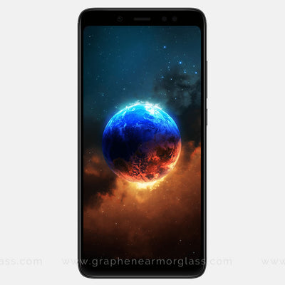 Redmi 5 Pro Black Color Full 3D 2.5D tempered Glass online India best rated
