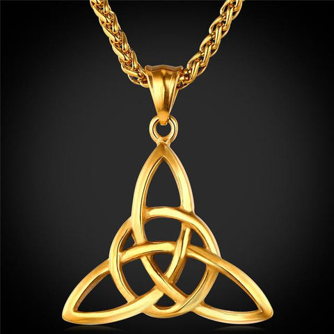Stainless Steel Celtic Knots Triquetra Necklace