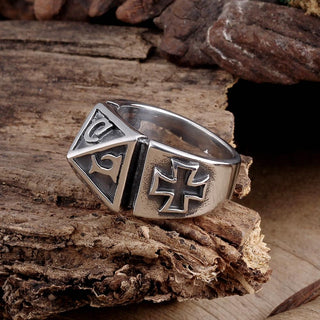 Stainless Steel Mystic Mayan Pyramid Ring