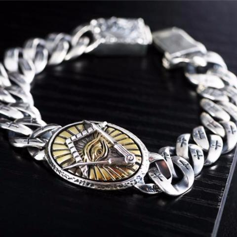 Sterling Silver Egyptian Eye Of Horus Bracelet