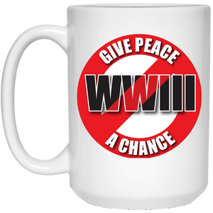 Peace 15 oz. White Mug