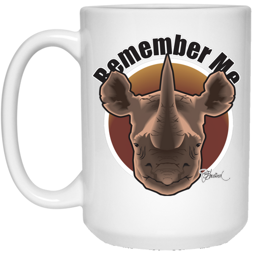 Remember Rhinos 15 oz. White Mug