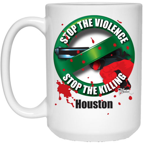Stop the Killing Houston - 15 oz. White Mug